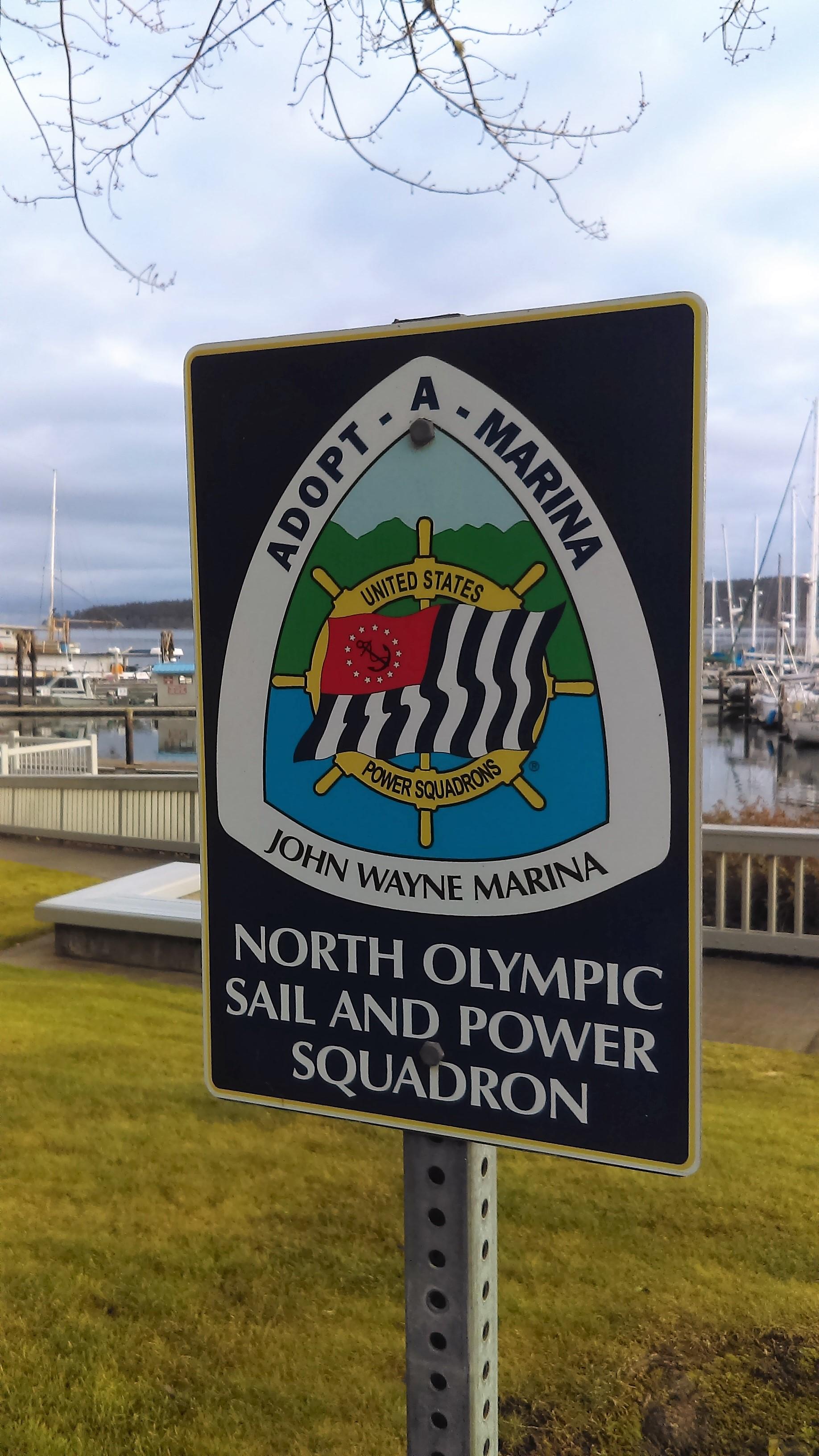 Adopt a marina sign