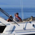 Bob & Bruce on the flybridge of Pipe Dream