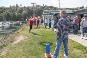 Safety Ring Toss Contest at Annual Picnic
