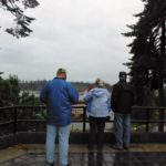 Ray, PAtti and Jim viewing the log drive