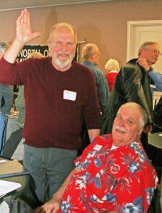 AO Bob Stem with Guest Speaker Torben Blitchfield/member