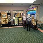 beautiful fabric art display by Catherine Bilyard