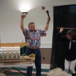 Gordon Biklyard demonstrating steam bending a board