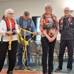 Volunteers for the Safety Demo - Catherine  & Gordon B, Randy & Julia R