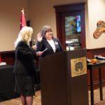 D16 Commander Annette Ferguson swears in new Commander Nila Madsen