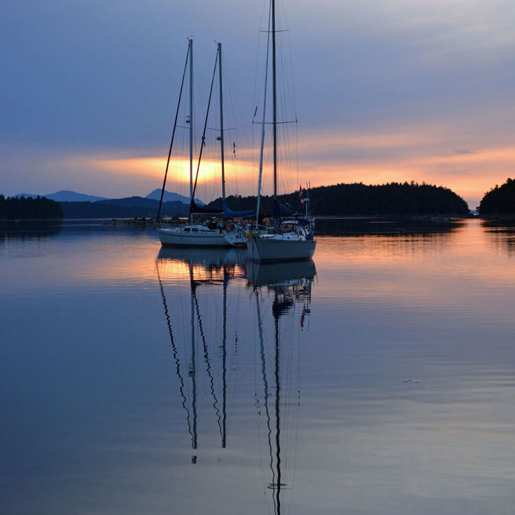 Sunset at Wallace Island, BC 250 pix per in JPG