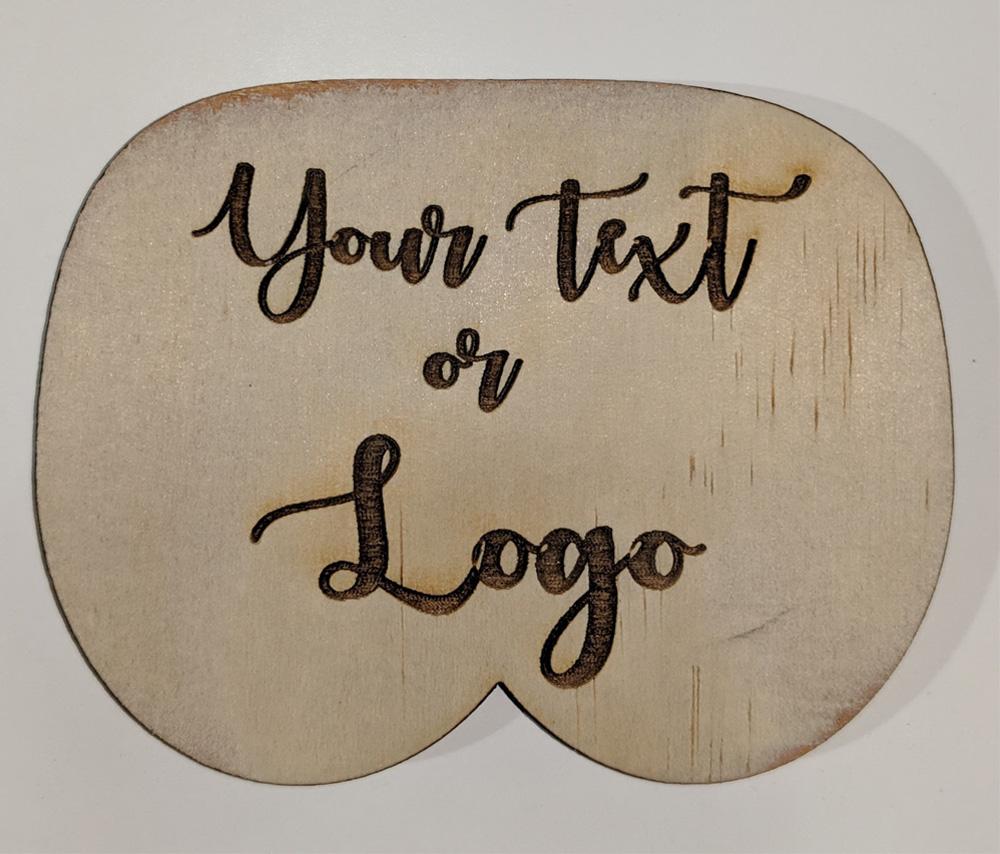 Bum Shape Wood Coasters