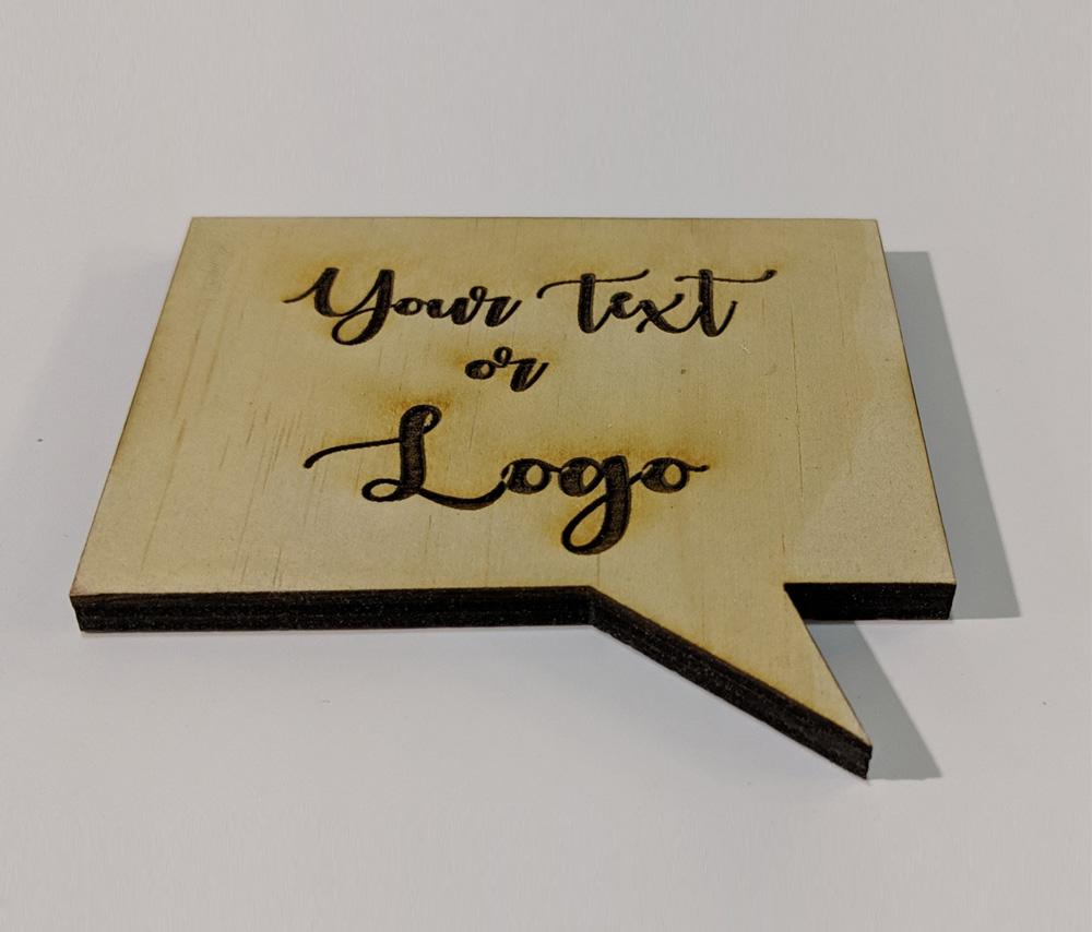 Call Out Shape Wood Coasters