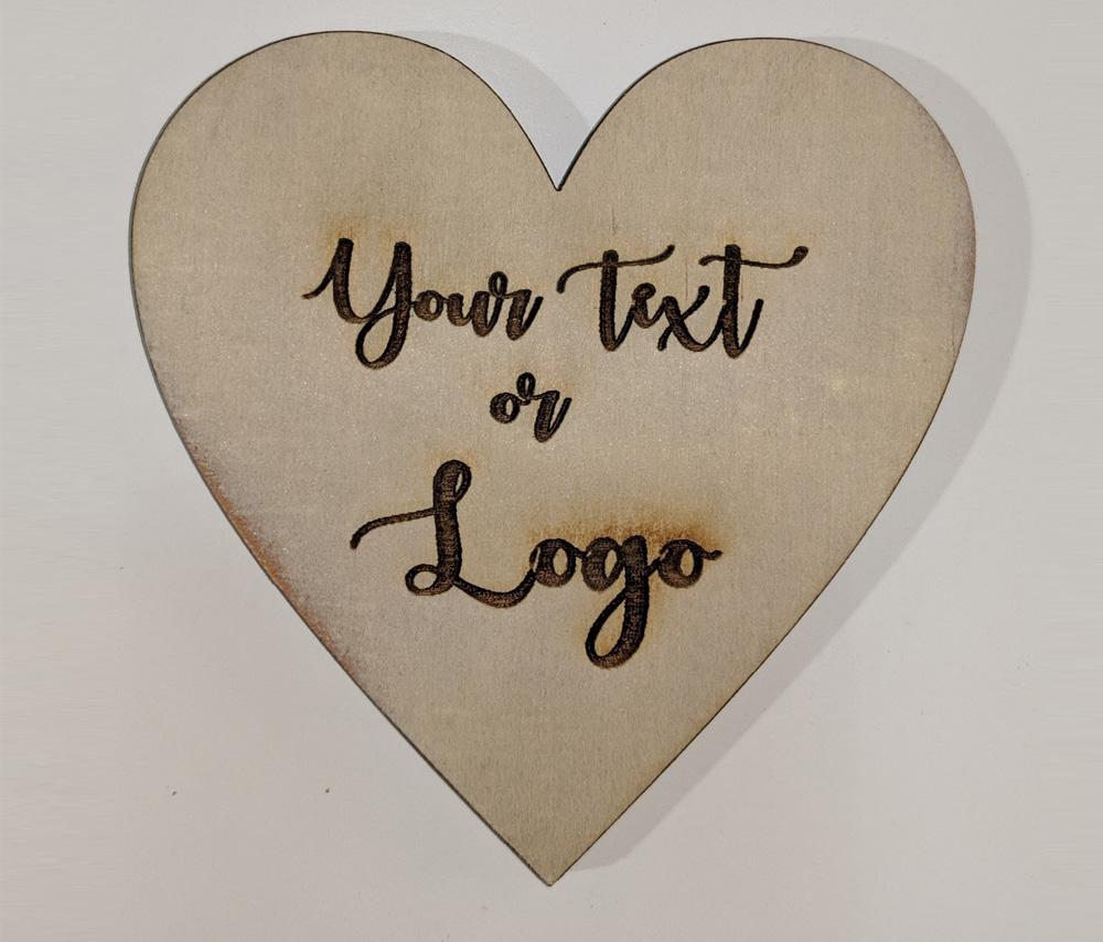 Heart Shape Wood Coasters