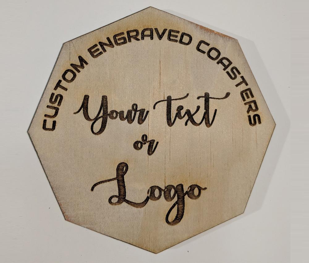 Octagon Shape Wood Coasters