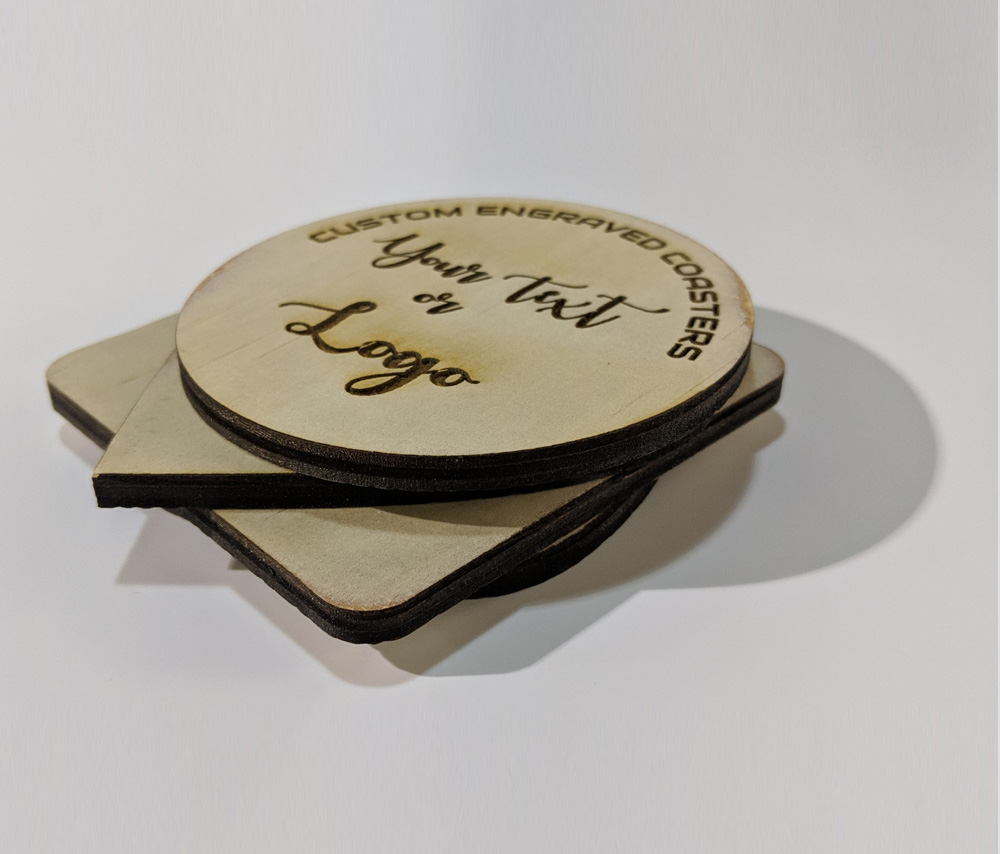 Round Engraved Coasters