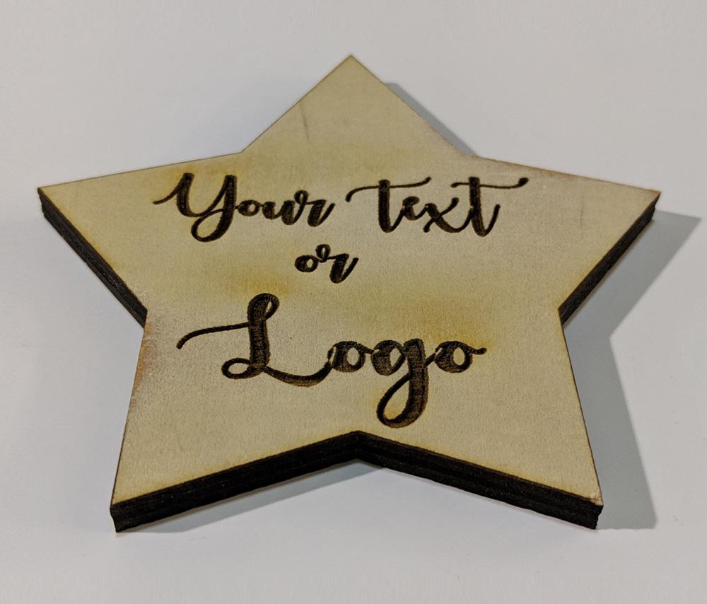 Star Shape Wood Coasters