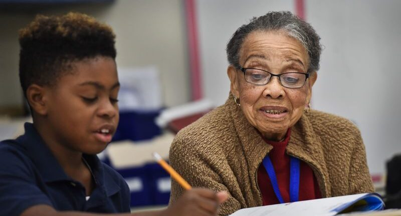 97-Year-Old Senior NBBBS Mentor Can't Wait To Get Her COVID-19 Shot And Get Back To Her Classroom