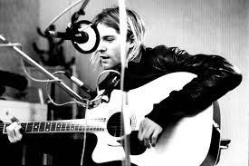 Kurt Cobain playing guitar
