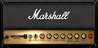 Marshall rock guitar tone