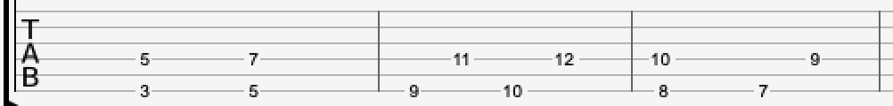 Octave Chords written in tab