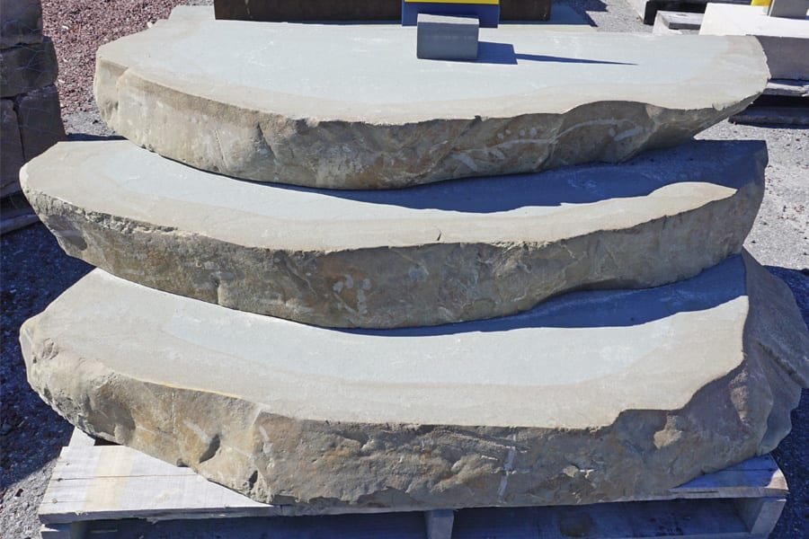 """6"""" Sawn Steps with River Washed smooth edges"""