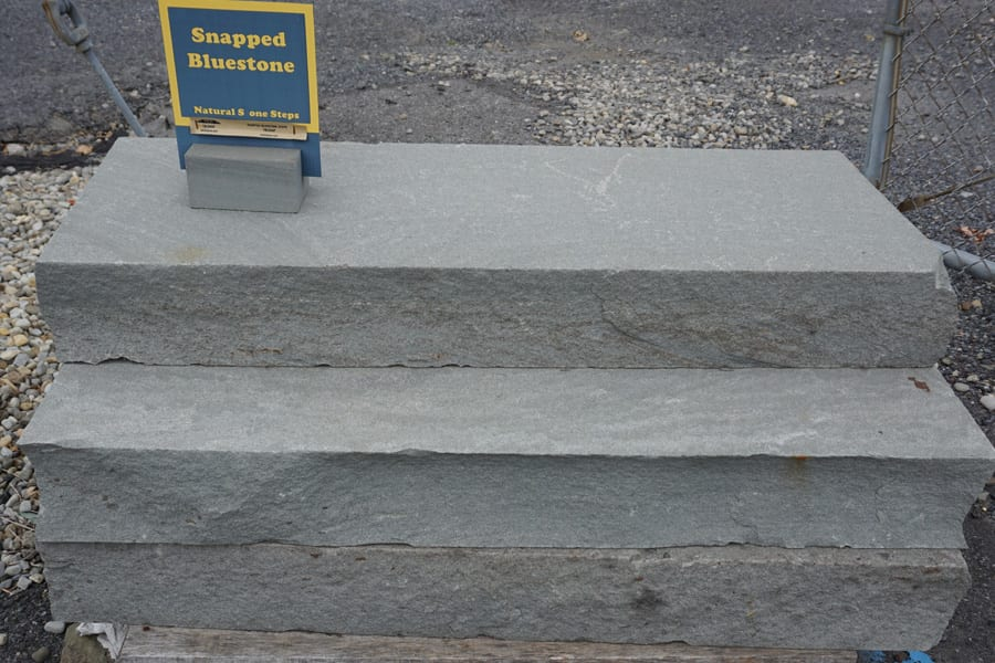 An example of our snapped edge bluestone steps