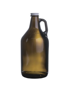 custom beer and brewery glassware & growlers for craft breweries - 64oz Amber Growler