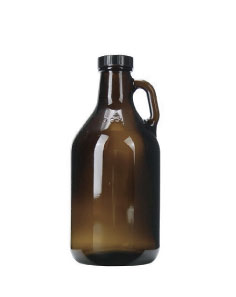 custom beer and brewery glassware & growlers for craft breweries - 32oz Amber Growler