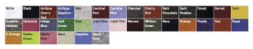 Color Options for 18500