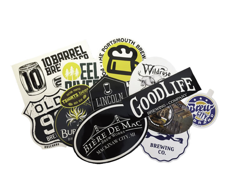 custom beer and brewery misc merch for craft breweries - Stickers