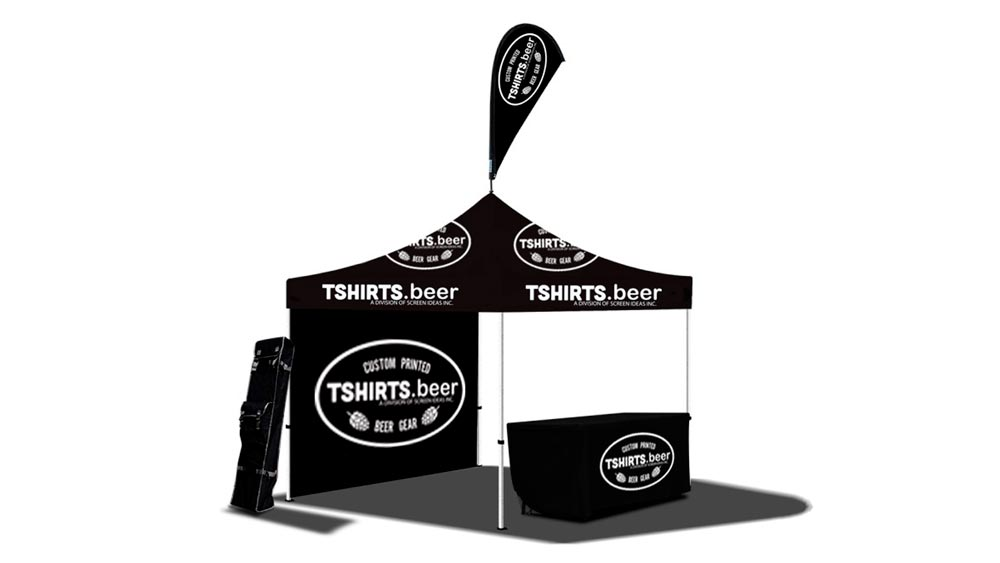 custom printed event and festival items for craft breweries-pop-up tent