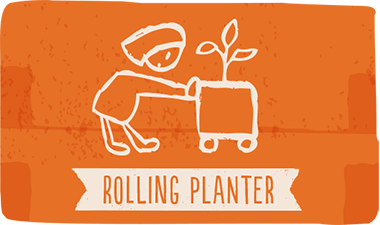 rolling planters