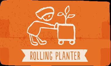 rolling planter