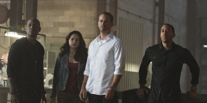 """Tyrese Gibson, Michelle Rodriguez, Paul Walker and Chris Bridges 'Ludacris' star in """"Furious 7."""" Photo credit: Universal Pictures"""