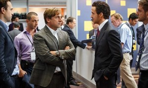 """""""The Big Short"""" stars Rafe Spall, Jeremy Strong, Steve Carell, Ryan Gosling and Christian Bale (not pictured). Photo credit: Paramount Pictures."""