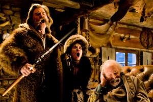 "Kurt Russell, Jennifer Jason Leigh and Bruce Dern star in ""The Hateful Eight."" Photo Credit: The Weinstein Company."
