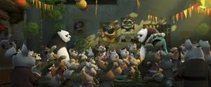 "Jack Black, Angelina Jolie, Bryan Cranston, J.K. Simmons, Dustin Hoffman, Seth Rogen, David Cross, Lucy Liu and Jackie Chan star in ""Kung Fu Panda 3."" Photo Credit: DreamWorks Animation."