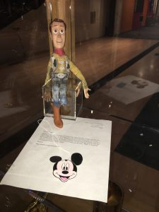 Pixar Animation Studios- Emeryville, CA. Woody doll that was donated by a six year-old boy. Photo Credit: Sarah Knight Adamson