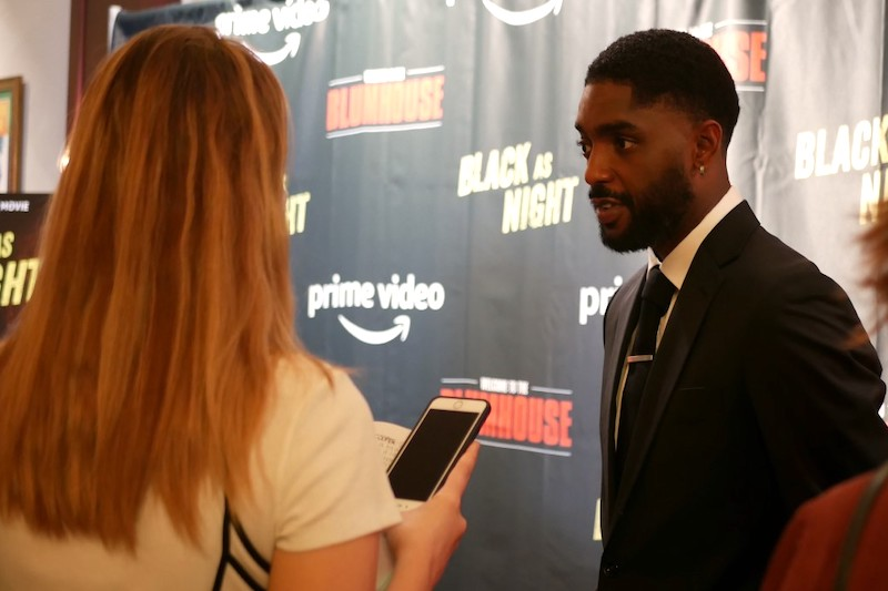 "Red Carpet Premiere of Blumhouse's ""Black as Night"" Norah Finn Reports"