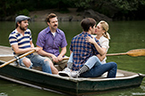 Charlie Day, Jason Sudeikis, Justin Long and Barrymore