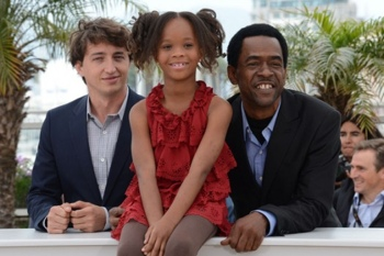 Director Benh Zeitlin, Stars Quvenzhané Wallis and Dwight Henry. Photo courtesy Cannes Film Festival.