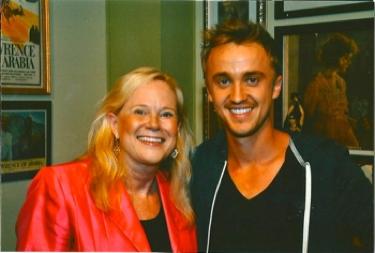 Sarah Adamson with Tom Felton