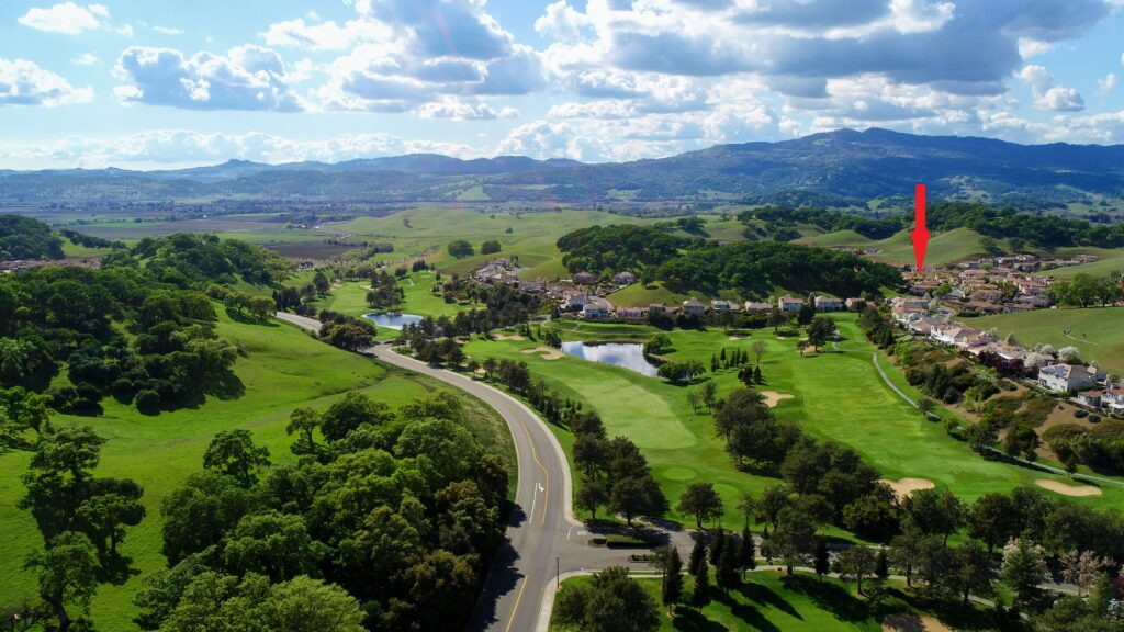 Rancho Solano with arrow