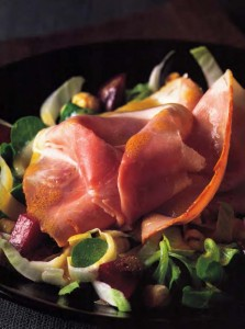 Winter-Salad-of-Counrty-Ham-with-Beets-Endive-and-Lambs-Lettuce
