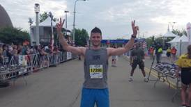 Alex after finishing the Cleveland 10K.