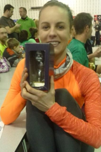 Colleen 1st place award Shamrock 5k 2013
