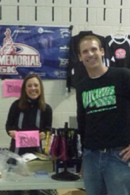 Josh and Jeannie Ritchie at the Ritchie Sporting Goods Booth, Shamrock 5 and 15k 2013