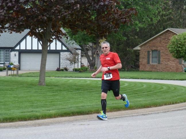 Ray running the Seymour 1/2 Marathon.