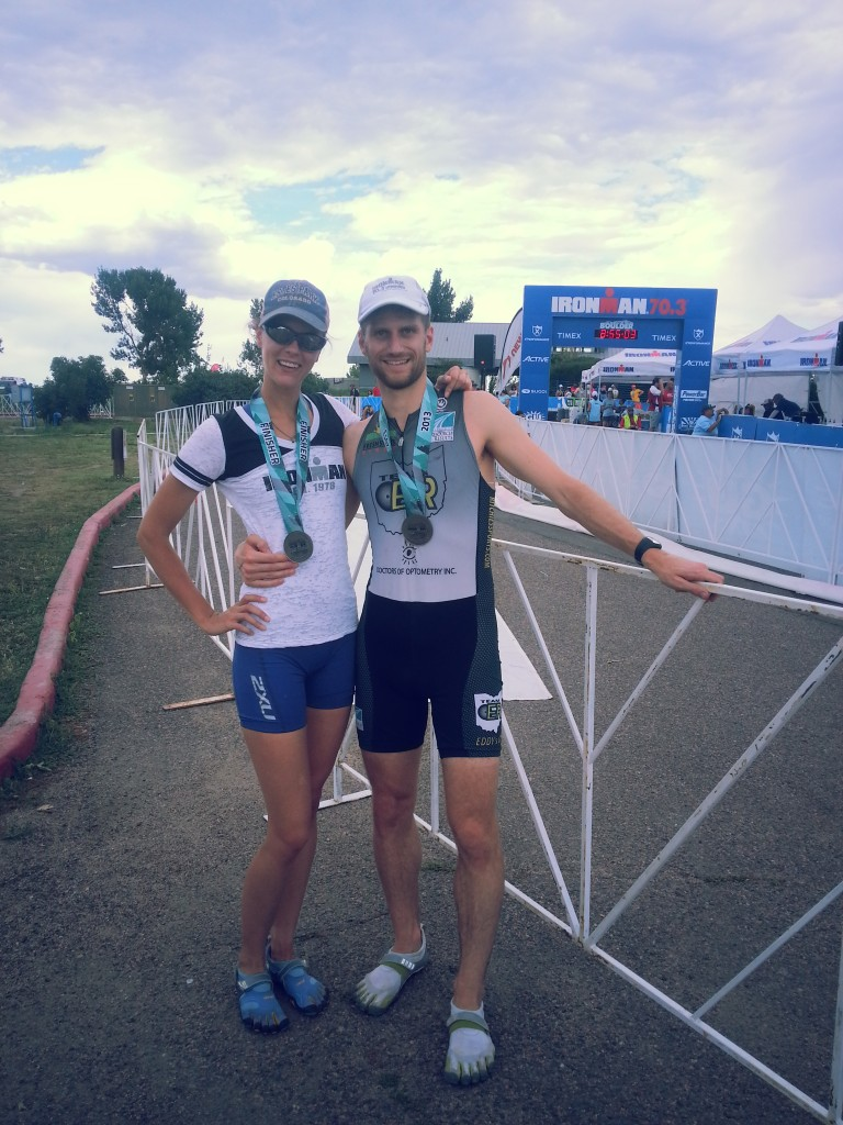 Colleen and Alex finish pic