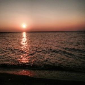 Picture Ashley took ... Sunset over Lake Erie Presque Isle Triathlon
