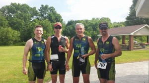 Carlo, Randy, Mike and John after the Miltonman Sprint Tri