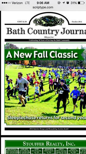 MIKE ON COVER OF BATH PAPER ( BATH STEEPLECHASE)