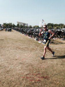 Henry leaving T2 at Age Group Nationals