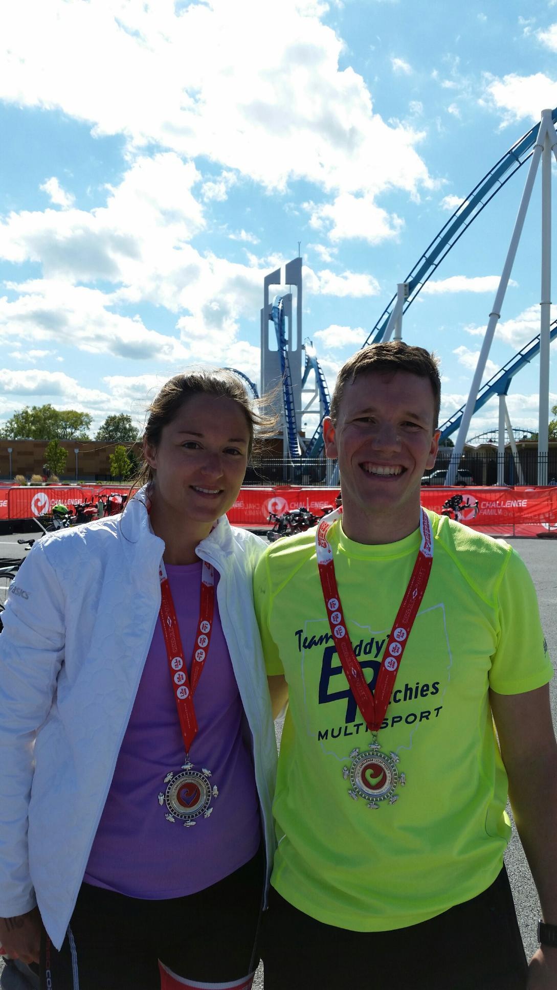 Ashley and Carlo...Cedar Point Finish